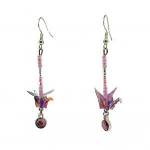 boucles-oreilles-origami-argent-swarovski-rose-aa