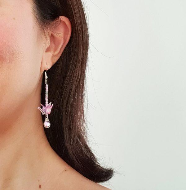 boucles-oreilles-origami-argent-swarovski-rose-c